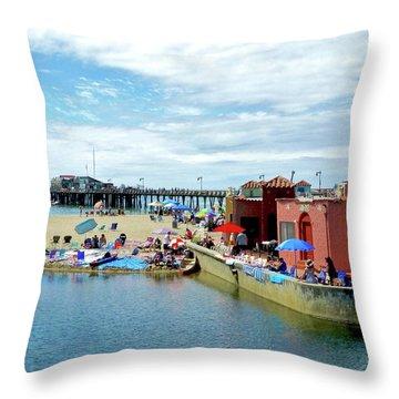 Capitola Begonia Festival Weekend Throw Pillow
