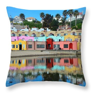 Capitola California Colorful Hotel Throw Pillow