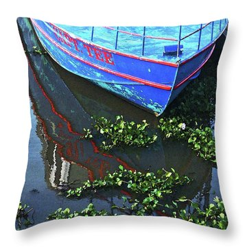 Cap'n Tee Henderson Swamp Throw Pillow by Lizi Beard-Ward