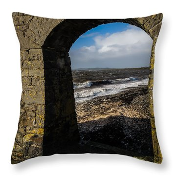 Cappagh Pier And Ireland's Shannon Estuary Throw Pillow