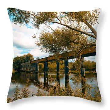 Cappaquin Railway Bridge Throw Pillow