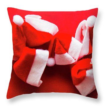 Capping Off A Merry Christmas Throw Pillow