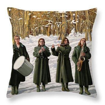 Cappotto Per Otto Throw Pillow