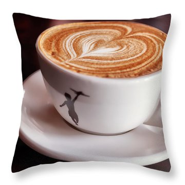 Cappuccino Throw Pillow by Anthony Citro