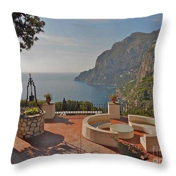 Capri Panorama Throw Pillow