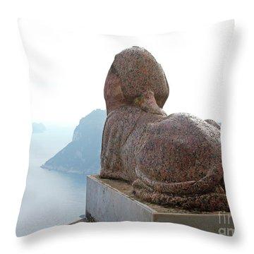 Capri, Villa San Michele 1 Throw Pillow