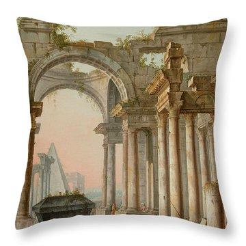 Capriccio With Ruins Throw Pillow
