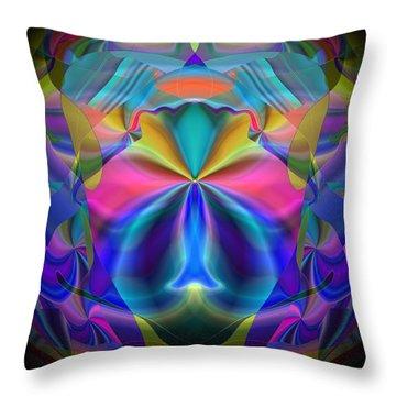 Throw Pillow featuring the digital art Caprice by Lynda Lehmann