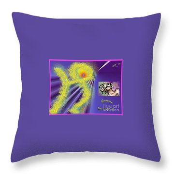 Throw Pillow featuring the digital art Capricorn by The Art of Alice Terrill