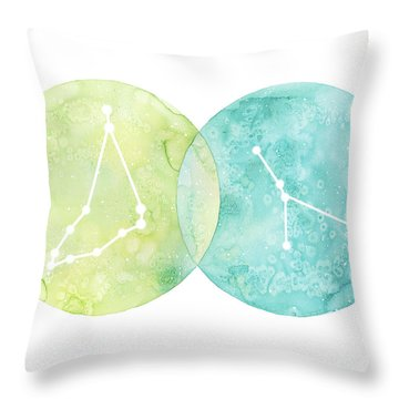 Capricorn And Cancer Throw Pillow
