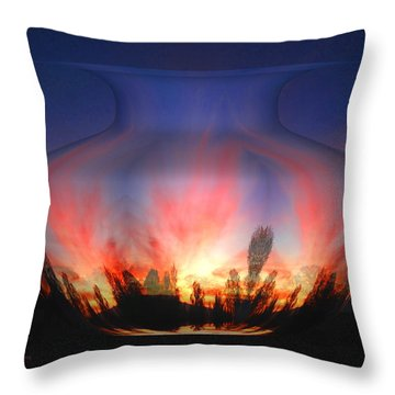 Capricorn Morning Throw Pillow by Joyce Dickens