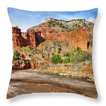 Caprock Canyon Throw Pillow