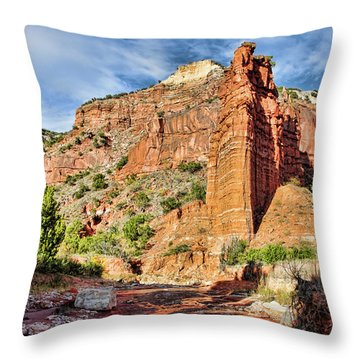 Caprock Canyon Cliff Throw Pillow