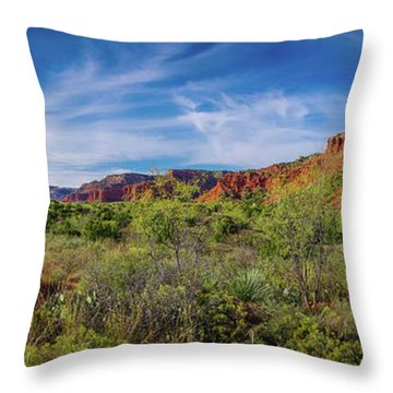 Caprock Canyon Panorama 2 Throw Pillow