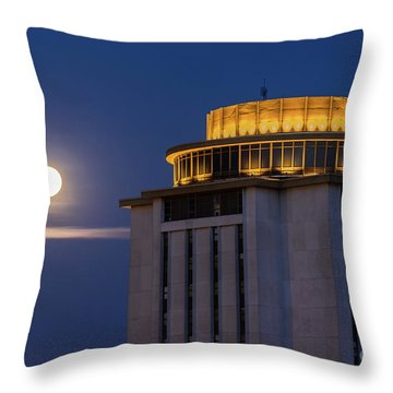 Capstone House And Full Moon Throw Pillow