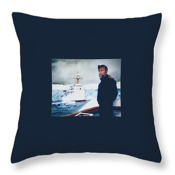 Capt Derek Law Throw Pillow