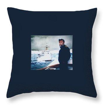 Capt Derek Law Throw Pillow by Tim Johnson