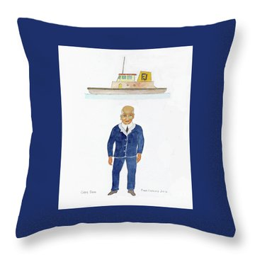 Capt. Don Throw Pillow by Fred Jinkins