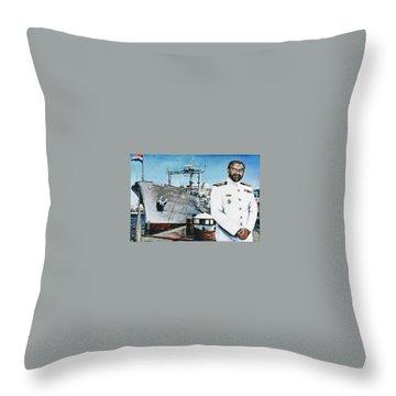 Capt Eric Green Throw Pillow