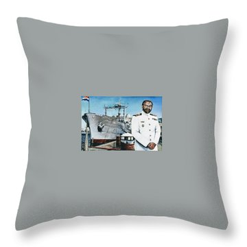 Capt Eric Green Throw Pillow by Tim Johnson