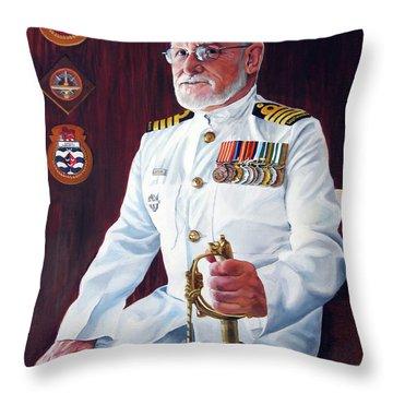 Capt John Lamont Throw Pillow by Tim Johnson