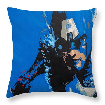 Captain America - Out Of The Blue  Throw Pillow by Kelly Hartman