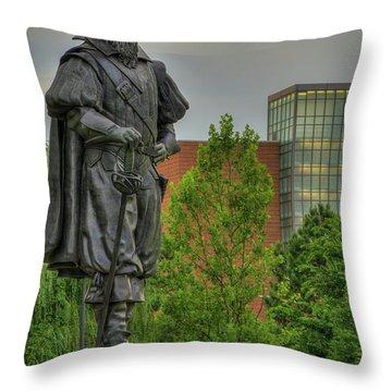 Captain Christopher Newport Throw Pillow