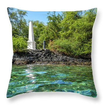 Throw Pillow featuring the photograph Captain Cook Monument by Denise Bird