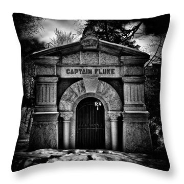 Throw Pillow featuring the photograph Captain Fluke Mausoleum Mount Pleasant Cemetery Toronto Canada by Brian Carson