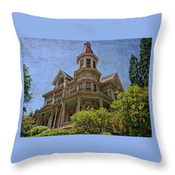 Throw Pillow featuring the photograph Captain George Flavel House by Thom Zehrfeld