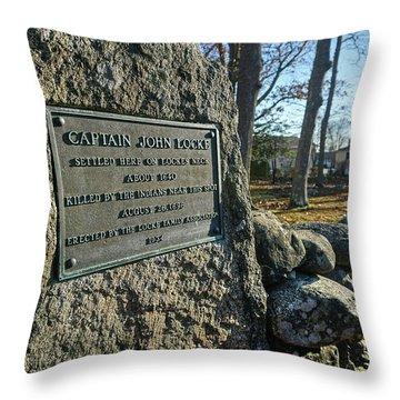Captain John Locke Monument  Throw Pillow