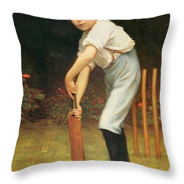 Captain Of The Eleven Throw Pillow