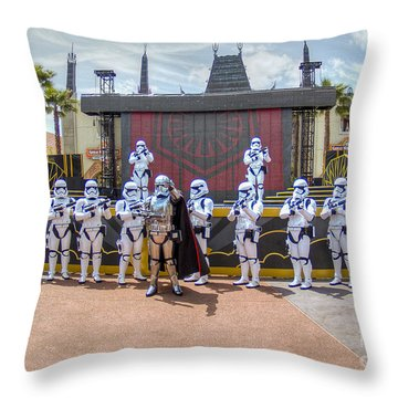Captain Phasma And The First Order Throw Pillow