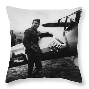 Captain Rickenbacker Painting Throw Pillow