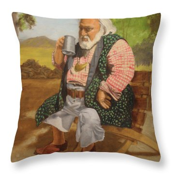 Captain Terry Throw Pillow