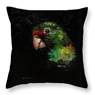 Captain The Parrot Throw Pillow