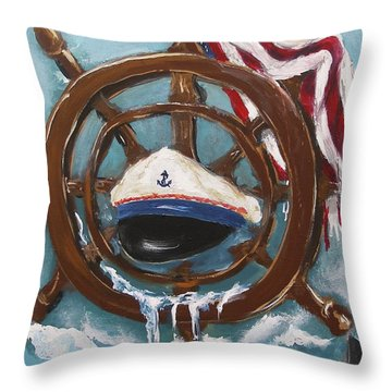 Captain's Home Throw Pillow