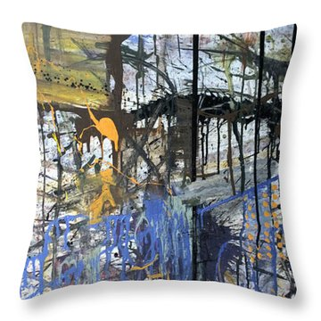 Throw Pillow featuring the painting Captian Jack's by Robert Anderson