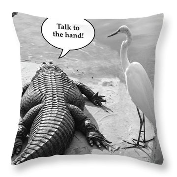 Captions Throw Pillow