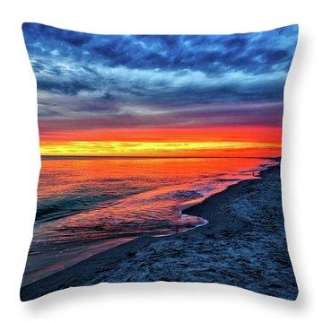 Throw Pillow featuring the photograph Captiva Island Sunset by Louis Dallara