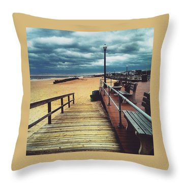 Captivating Clouds Throw Pillow by Lauren Fitzpatrick
