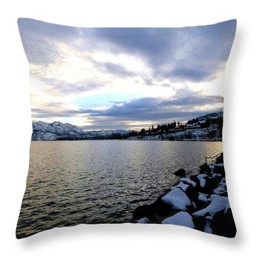 Captivating Okanagan Lake Throw Pillow by Will Borden