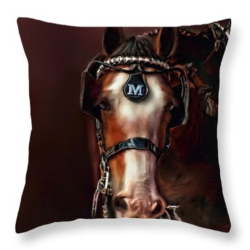Throw Pillow featuring the digital art Captivating Smile by Kari Nanstad