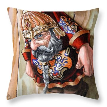 Captive Dwarf In Tiger Suit Throw Pillow