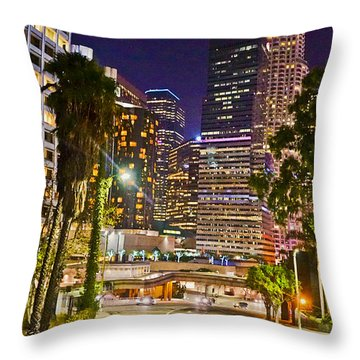 Captive In The City Light Embrace Throw Pillow