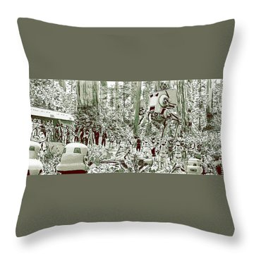 Capture On Endor Throw Pillow