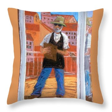 Throw Pillow featuring the painting Captured In Antibes by Gary Coleman