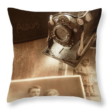Captured Memories Throw Pillow