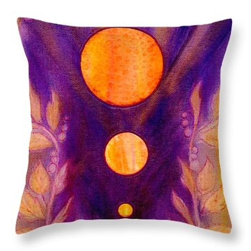 Captured Spirit Throw Pillow by Desiree Paquette