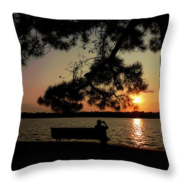 Capturing The Sunset Throw Pillow